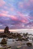 Wschód słońca przy Playa De Portizuelo Zdjęcia Royalty Free