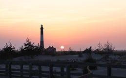 Wschód słońca przy Pożarniczą wyspą Zdjęcie Royalty Free