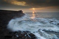 Wschód słońca przy Porthcawl Obraz Stock