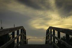 Wschód słońca przy przylądka Canaveral Seashore obraz royalty free