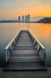 Wschód słońca przy Pulmanowskim Putrajaya Fotografia Royalty Free
