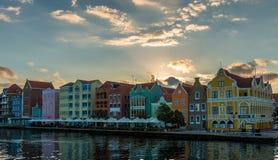 Wschód słońca przy Punda Willemstad Zdjęcia Stock
