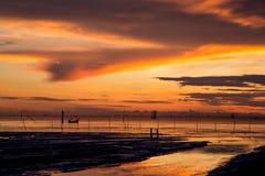 Wschód słońca przy rybak wioską Zdjęcie Royalty Free