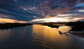 Wschód słońca przy Sabah, Borneo, Malezja Zdjęcia Stock