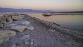 Wschód słońca przy Salton morzem Fotografia Royalty Free