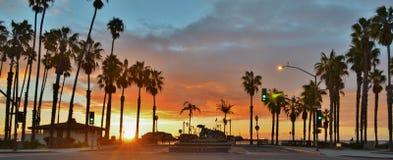 Wschód słońca przy Santa Barbara nabrzeżem Fotografia Royalty Free