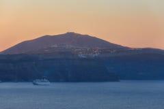 Wschód słońca przy Santorini zdjęcia stock