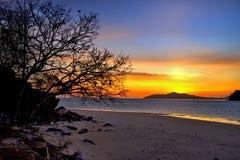 Wschód słońca przy saronde wyspą Obraz Royalty Free