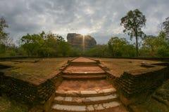 Wschód słońca przy Sigiriya Obraz Royalty Free