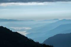 Wschód słońca przy Sikkim Fotografia Stock
