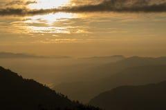 Wschód słońca przy Sikkim Obraz Royalty Free