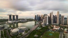 Wschód słońca przy Singapur