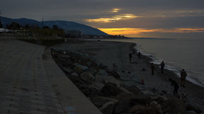 Wschód słońca przy Sochi obraz royalty free