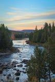 Wschód słońca przy spadkiem w Kanada Fotografia Stock