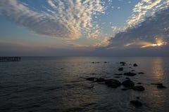 Wschód słońca przy St st Konstantin i Elena Obrazy Stock