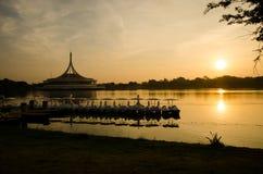 Wschód słońca przy Suanluang RAMA IX Zdjęcie Royalty Free