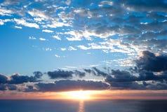 Wschód słońca przy surfingowa rajem Obrazy Royalty Free