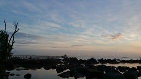 Wschód słońca przy Turi miejscowością nadmorską zdjęcia stock
