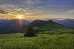 Wschód słońca przy Velka Fatra Obraz Royalty Free