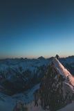 Wschód słońca przy wierzchołkiem Fotografia Stock