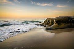 Wschód słońca przy Windansea Obraz Royalty Free