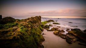 Wschód słońca przy Windansea plażą Zdjęcia Royalty Free