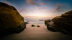 Wschód słońca przy Windansea plażą w San Diego, Kalifornia Obrazy Stock