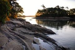 Wschód słońca przy Wolfe szyi stanu parkiem zdjęcie stock