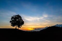 Wschód słońca przy wsią Obraz Royalty Free