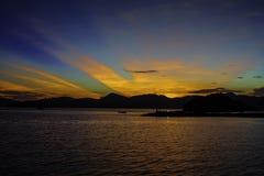 Wschód słońca przy wyspą Fotografia Stock