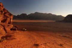 wschód słońca rumowy wadi Zdjęcia Stock