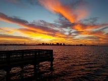 Wschód słońca rzeka Obraz Royalty Free