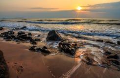 Wschód słońca skały Obraz Royalty Free