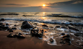 Wschód słońca skały Zdjęcia Stock
