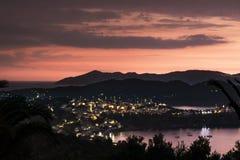 Wschód słońca Skiathos Zdjęcie Royalty Free