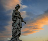 Wschód słońca statua Obrazy Royalty Free