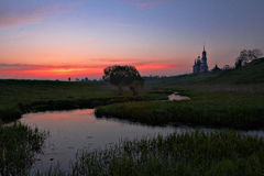 wschód słońca susdal Obrazy Royalty Free