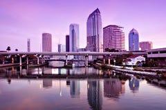 wschód słońca Tampa obrazy stock