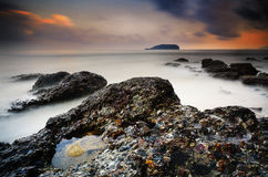 Wschód słońca Terengganu Zdjęcia Royalty Free
