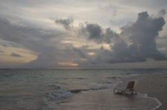 Wschód słońca, Tropikalna plaża, republika dominikańska Obrazy Stock
