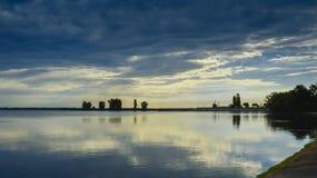 Wschód słońca tworzy zadziwiać krajobrazy obraz stock