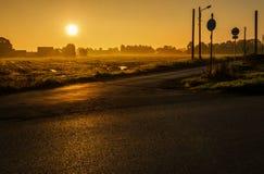 Wschód słońca ulica Zdjęcie Royalty Free