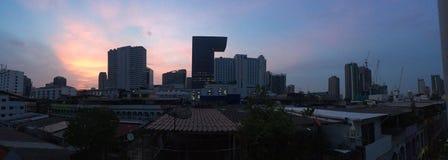Wschód słońca w śródmieściu Obrazy Royalty Free