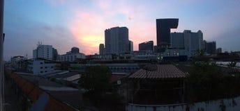 Wschód słońca w śródmieściu Obrazy Stock