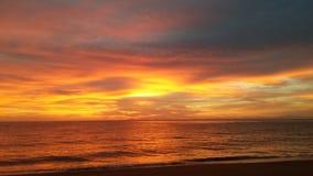 Wschód słońca w Abel Tasman parku narodowym Obrazy Royalty Free