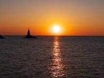 Wschód słońca w Ahtopol Fotografia Royalty Free
