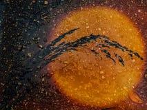 Wschód słońca w asfalcie Fotografia Stock