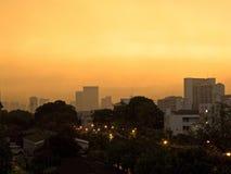 wschód słońca w Bangkok mieście Zdjęcia Stock