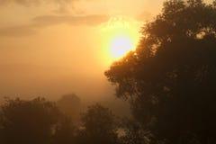 Wschód słońca w BiaÅ 'y Dunajec Polska Zdjęcia Stock