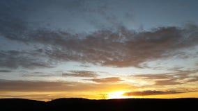 Wschód słońca w Brazylia MG Obraz Royalty Free